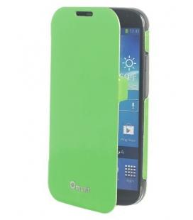 PU puzdro typu kniha MUVIT Fluosh pre Samsung Galaxy S4, zelené