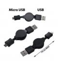 Vyťahovací micro USB kábel