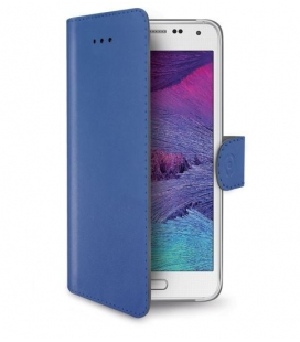 Púzdro typu kniha CELLY Wally pre Samsung Galaxy S6 , PU kože, modré
