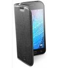 Puzdro typu kniha CellularLine Book Essential pre Samsung Galaxy J1, čierne