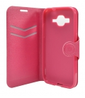 Puzdro typu kniha FIXED s gélovou vaničkou pre Samsung Galaxy Core Prime, G360, ružové