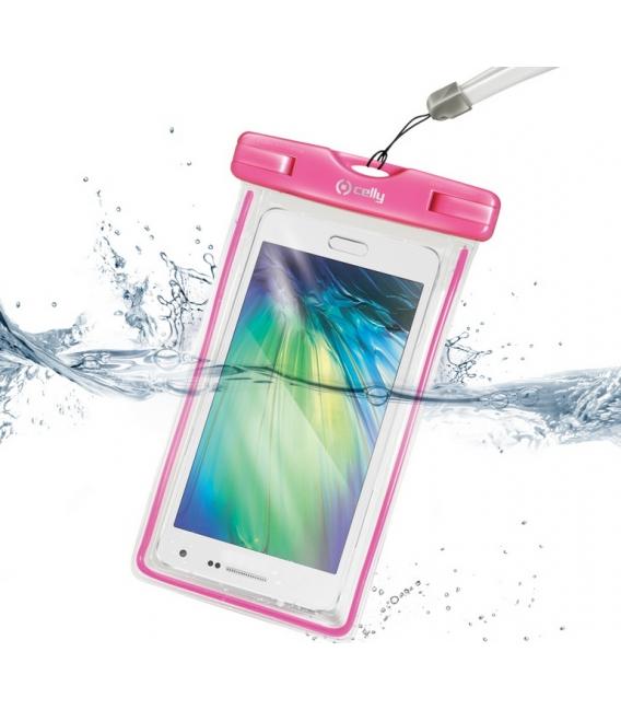 """Univerzálne vodeodolné púzdro CELLY pre telefóny do 5,7"""", ružové"""