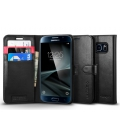 Spigen flipové pouzdro Wallet S pro Galaxy S7, čierne 555CS20027