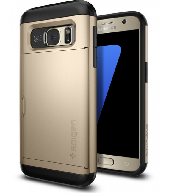 Púzdro Spigen Slim Armor CS Card Samsung Galaxy S7 zlatá