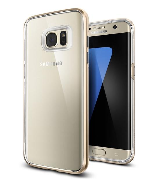 Púzdro Spigen Neo Hybrid Crystal Gold Samsung Galaxy S7 Edge zlaté