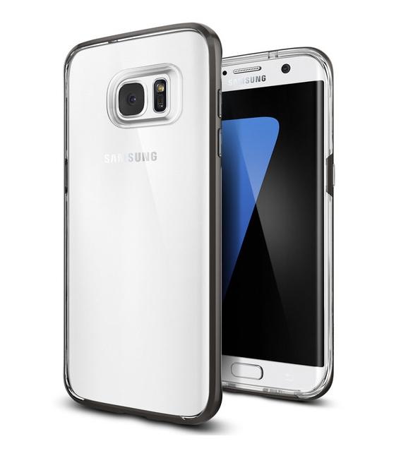 Púzdro Spigen Neo Hybrid Crystal Gunmetal Samsung Galaxy S7  Edge