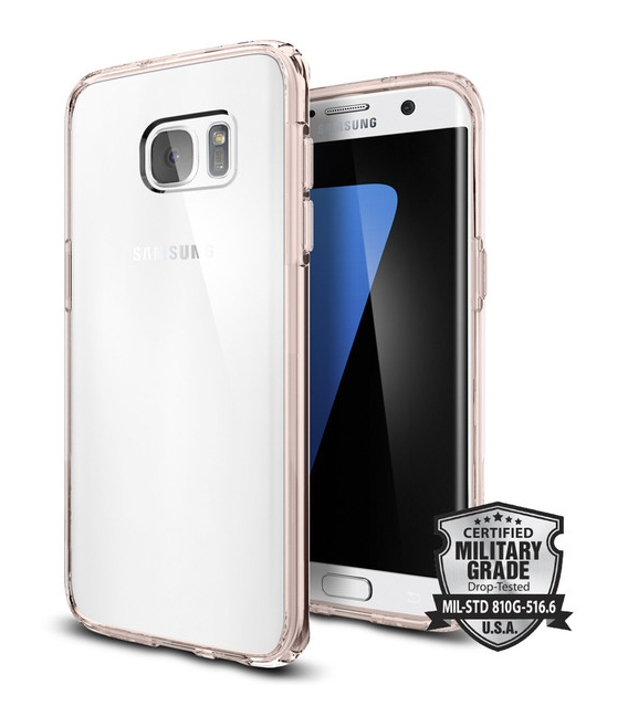 Púzdro Spigen Ultra Hybrid Samsung Galaxy S7 Edge Rose Crystal