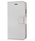 Pouzdro typu kniha FIXED FIT pro Samsung Galaxy J1 (2016), bílé