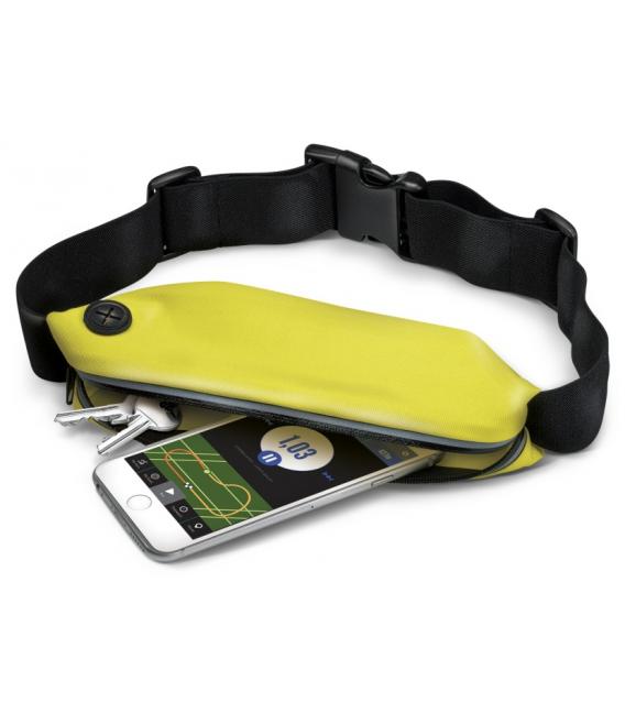 Športové neoprénové puzdro CELLY RunBelt, univerzálna veľkosť, žlté