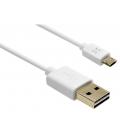 Obojstranný USB dátový kábel FIXED TO micro USB s konektorom micro USB, 1m, biely FIXDC-FTOMR-WH