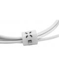 Obojstranný USB dátový kábel FIXED TO micro USB s konektorom micro USB, 1m, biely