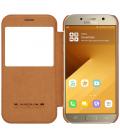 Púzdro Nillkin Qin View Samsung Galaxy A3 2017 - A320F hnedé