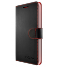 Pouzdro typu kniha FIXED FIT pro Samsung Galaxy J1 (2016), černé