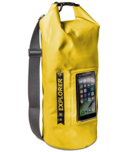 """Vodeodolný vak CELLY Explorer 10L s vreckom na telefón do 6,2"""", šedý"""