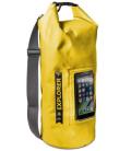 """Vodeodolný vak CELLY Explorer 10L s vreckom na telefón do 6,2"""", žltý"""