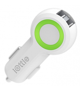 iOttie RapidVOLT Dual Port USB Car Charger - White