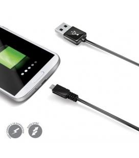 Rýchly dátový USB kábel CELLY s konektorom microUSB, biely