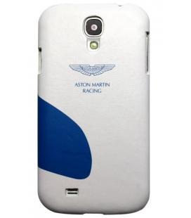 Kožený zadný kryt Aston Martin Racing pre Samsung Galaxy S4, bielomodrý